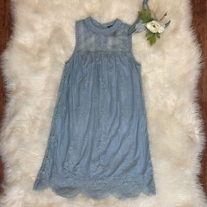 Miss Chievous Blue Lace Boho Sleeveless Dress